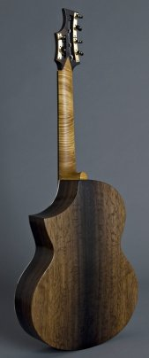 A six string Concert Guitar made from 1,500 year old bog oak