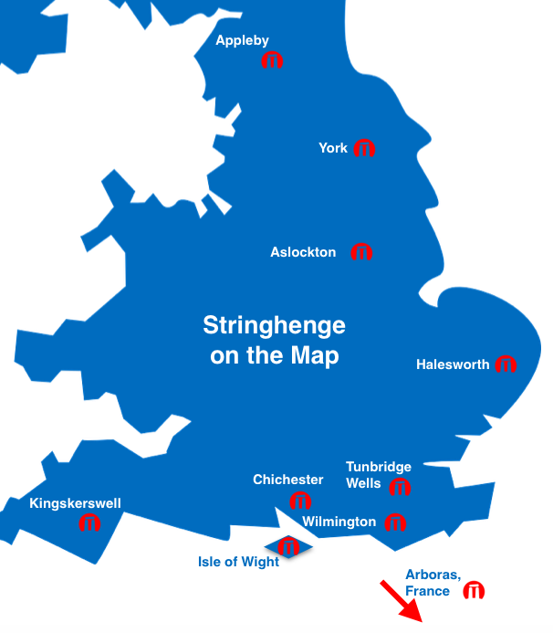 Stringhenge Tour Map